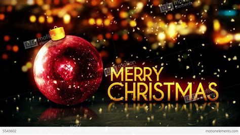 red gold merry christmas bokeh beautiful  red ba stock animation
