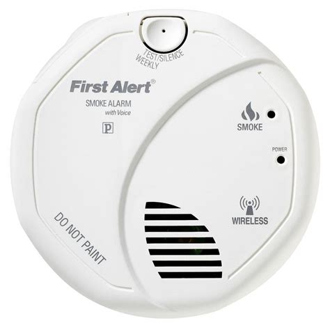 alert wireless interconnect smoke detector with