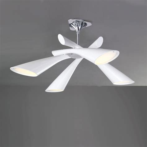 Designer Ceiling Light Fixtures Mantra M0921 Pop 4 Light White Ceiling Pendant