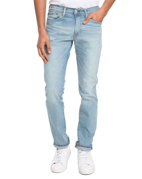 levi s 511 light stonewash levi s blue 511 slim fit light stone rinsed jean for men