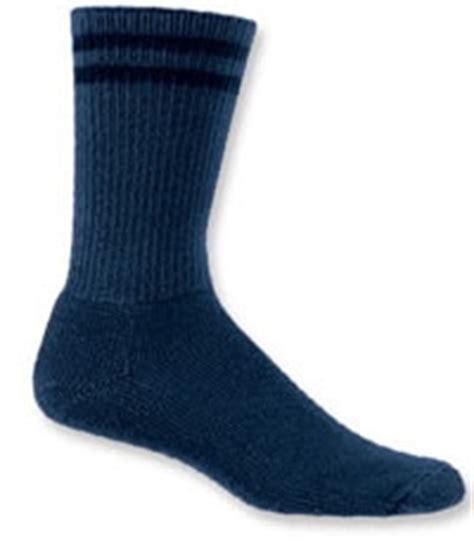 comfort direct thorlo blue thorlos crew length sock l
