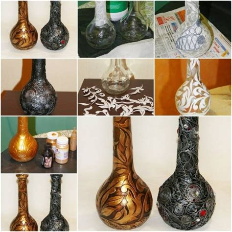 how to decorate pretty wine bottle step by step diy