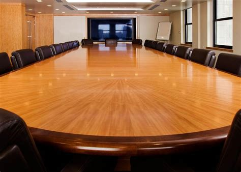 room and board bench veneer racetrack boardroom table large boardroom table