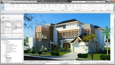 revit tutorial in dubai bim revit advanced tutorial 02 simple rendering with