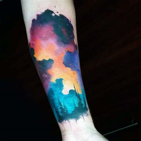 70 sky tattoos for men atmosphere design ideas