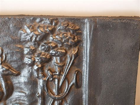 Cast Iron Fireplace Back by 18th Century Cast Iron Fireplace Back At 1stdibs