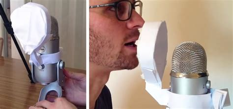 How To Make A Paper Microphone - make a free microphone pop filter entirely out of paper in