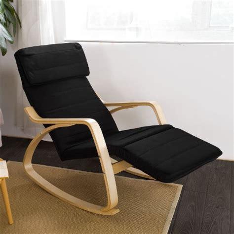 poltrona sdraio poltrona sdraio relax sedia a dondolo fst16 sch nero