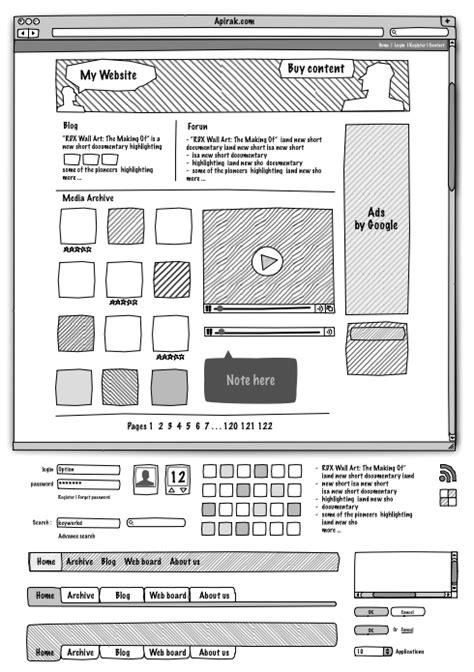 layout web sketch 25 exles of wireframes and mockups sketches
