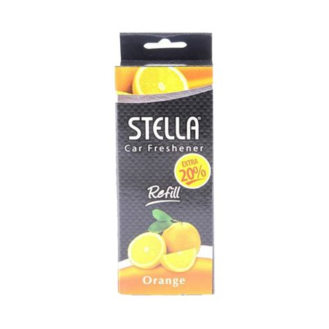 jual stella liquid orange car freshener refill 50 ml