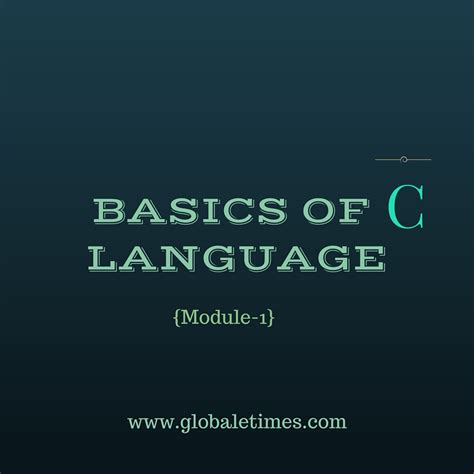 tutorial of logo language basics of c language module 1