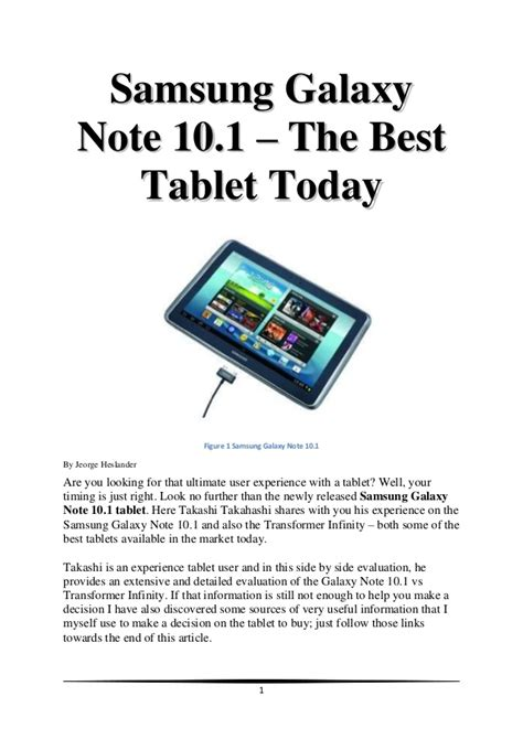 best tablet today samsung galaxy note 10 1 the best tablet today