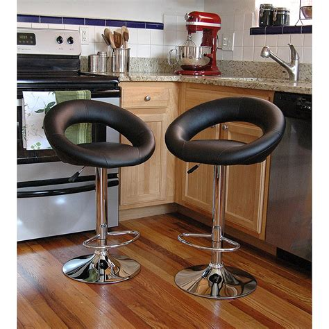 bar stool chairs for the kitchen bar stool set 2 piece adjustable height seat chair swivel