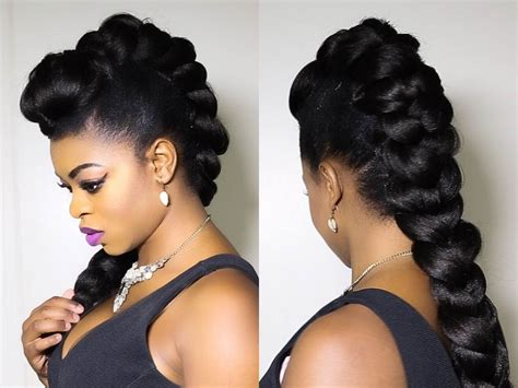Mohawk Hairstyle For Black Tutorial by Pictures Of Mohawk Braided Updo Hairstyle 2013