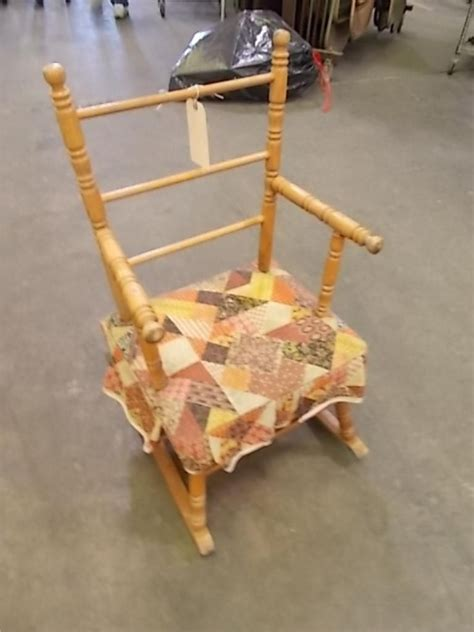 Alabama Rocking Chair by Vintage Cass Toys Childs Rocking Chair Usa Made Item