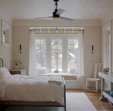 bedroom window seat ideas rustic cottage with neutral interiors home bunch