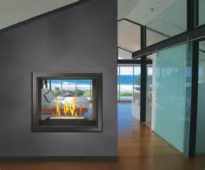 stylish see through fireplaces patio hearth
