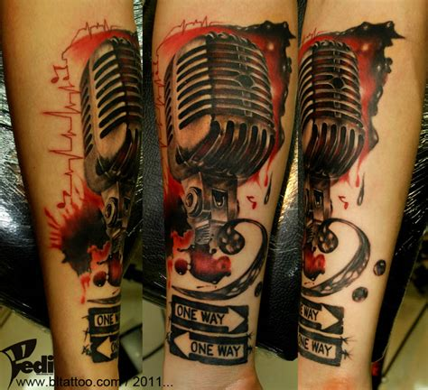 tattoo old microphone old microphone one way by pedi deviantart com on