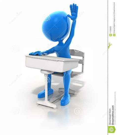blue student desk blue student royalty free stock photo image 11769635