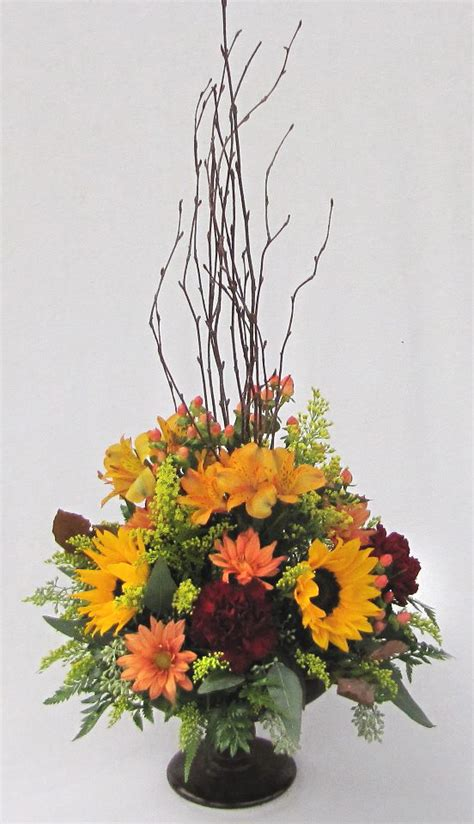 fall floral arrangements fall flower arrangement picture by dietz flower shop