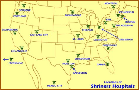 map of hospitals in texas shriners hospitals map