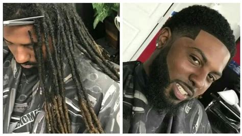 hairstyles after cutting dreadlocks dreadlocks to short hair cut by cali the barber afro
