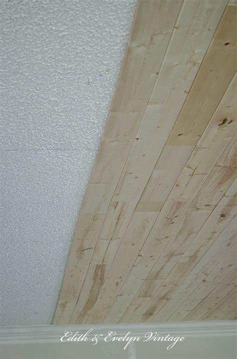 plank  popcorn ceiling  easy   wood