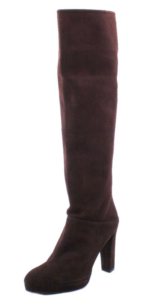 stuart weitzman crushable womens timber brown suede