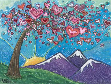 valentines painting wishes painting by tanielle childers