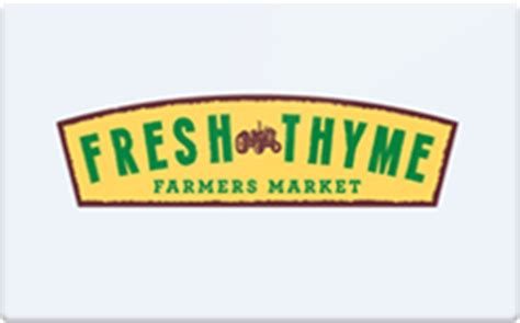 sell fresh thyme farmers market gift cards raise - Fresh Thyme Gift Card Balance