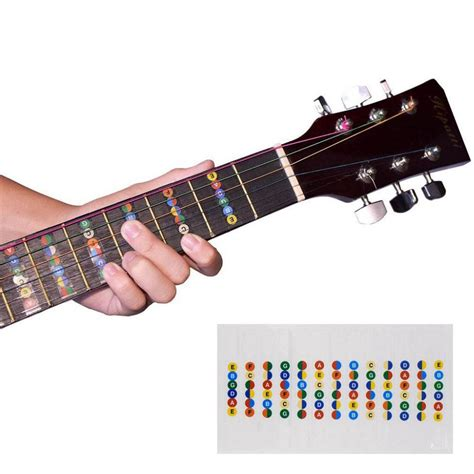 stiker penanda fret gitar label untuk belajar kunci gitar dengan mudah harga jual