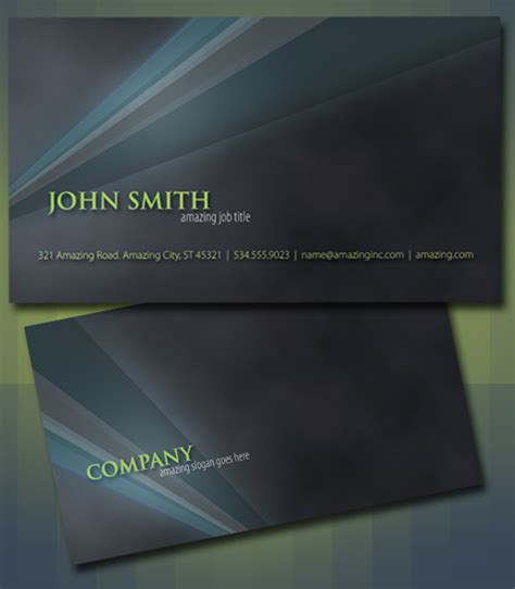 Photoshop Business Card Templates 50 free photoshop business card templates