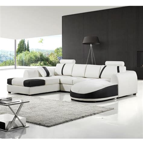 modern white leather sleeper sofa new leather sectional