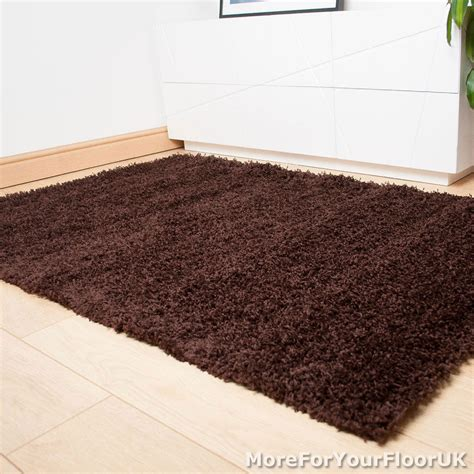 thick rugs brown thick shaggy rug thick pile soft touch great quality cheap price ebay