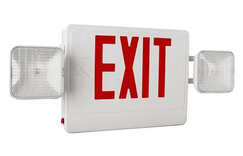 exit sign light combo exit sign emergency light combo emergency light depot
