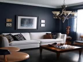 marvelous Brown Colour Schemes For Bedrooms #9: navy-blue-living-room-ideas-690x518.jpg