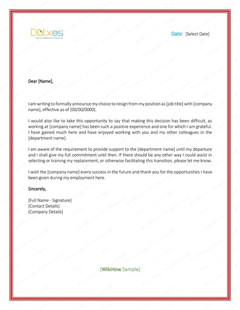professional resignation letter template 5 resignation letter templates to write a professional
