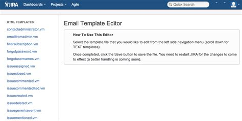 templates for jira outgoing email template editor for jira atlassian