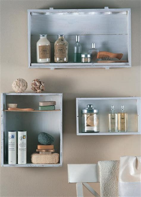 Shelf For Makeup by Wall Mounted Box Shelves A Trendy Variation On Open Shelves Makeup Storage Storage Ideas