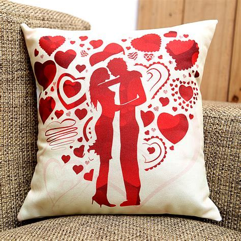 Send My Love Cushion Online from BookMyFlowers