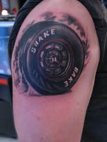 racing tattoo tire stace burt artist