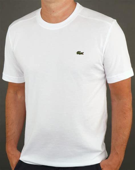 Lacoste Shirt lacoste t shirt white crew neck sport mens