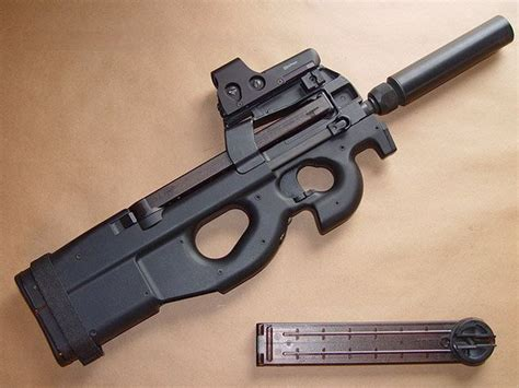 Gun 5 Mata subfusil fn p90 herstal calibre 5 7 x 28 mm weapons real