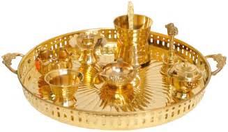 Home Decoration Items India puja thali