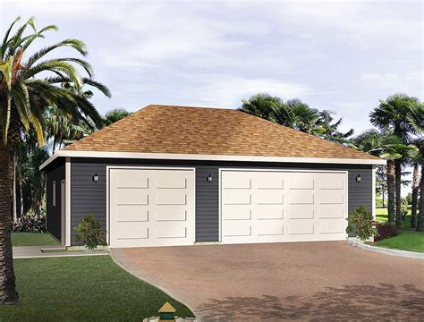 hip roof garage plans hip roof 3 car drive thru garage 22053sl architectural
