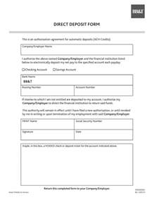 Authorization Letter Deposit Free Bb Amp T Direct Deposit Authorization Form Pdf Eforms