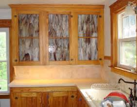 kitchen stained glass kitchen cabinet doors forested