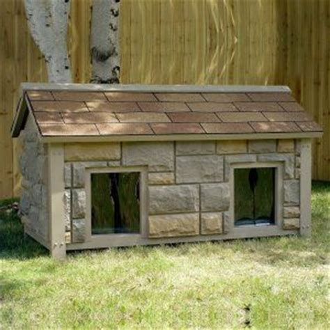 high tech dog house flagstone duplex doghouse doghouses pinterest