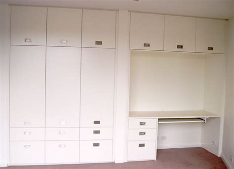 Desk Wardrobe Units by Polyurethane Hinged Cupboard With Desk Study Unit
