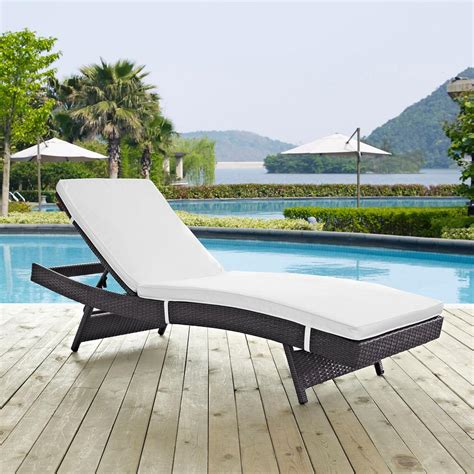 modway convene wicker outdoor patio chaise lounge